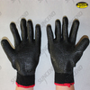 Polycotton liner rubber palm coated work gloves