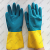 Two color Neoprene and latex dipped chemical resistant glove