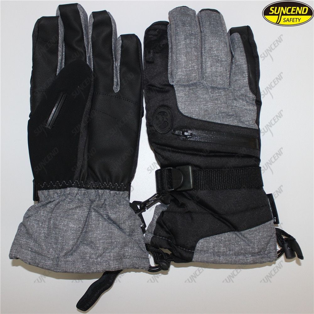 Customized waterproof heat preservation warm outdoor leather sports winter ski g
