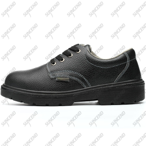Black EN20345 Low Cut Steel Toe Industrial Rubber Sole Safety Shoes