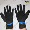 Nylon/polyester liner full latex coated palm strengthen sandy finish work gloves