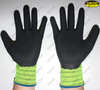 Textured latex coated industrial hand work gloves