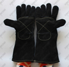 Cow split leather welder heat-resistant gloves