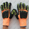 Sandy Nitrile Sponge Padded Palm Cut Level 5 Impact Resistant TPR Gloves
