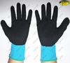 Black sandy nitrile industrial mechanical gloves