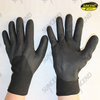 Black sandy nitrile 3/4 coated jersey liner work gloves