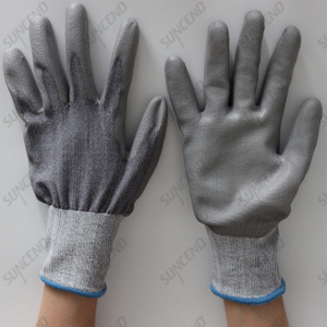 PU Coated Smooth Finish Anti-static Work Gloves