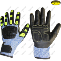 TPR Anti Impact HPPE Safety Cut Resistant Impact Gloves