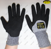 Seamless HPPE liner cut resistant nitrile coated work gloves