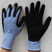 Nitrile Coated High Elastic Wire Liner Sandy Finish Work Gloves