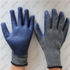 Seamless grey cotton dark blue smooth latex work gloves for Chile