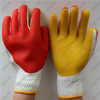Double sides laminated rubber welding cotton gloves with rubber palm