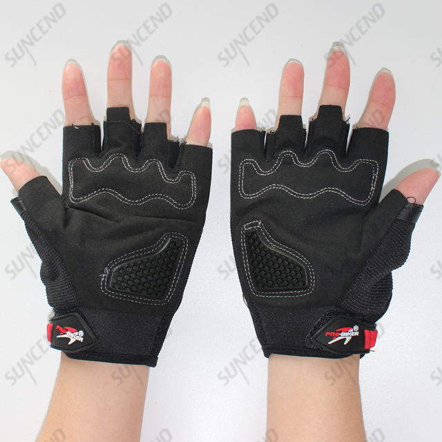 Probiker Half Cut Gloves Black Customized Size Driving Gloves