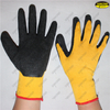 Cheap latex coated crinkle finish hand protective work gloves