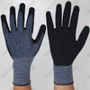 Sandy Nitrile Coated High Elastic Wire Liner Work Gloves
