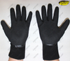 Polyester liner sandy nitrile coated durable safety gloves