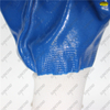 Seamless 13G polyester full coated blue smooth nitrile oil resistant gloves
