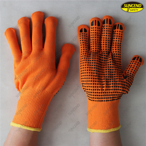 Cotton White Hand Gloves PVC Dots White Cotton Gloves