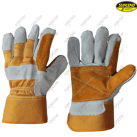 Industrial labor protection low price working cow leather gloves