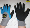 Safety hand work nitrile double coated sandy gardening gloves