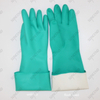 45cm/50cm Green Nitrile Chemical Resistant Working Gloves with Customized Liner