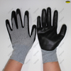 Nitrile Coated Foam Finish Nylon Liner Safety Work Gloves