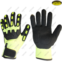 Anti impact protection mechanical working safety gloves