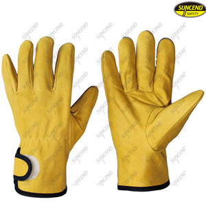 wholesale new design goat skin leather men driving gloves