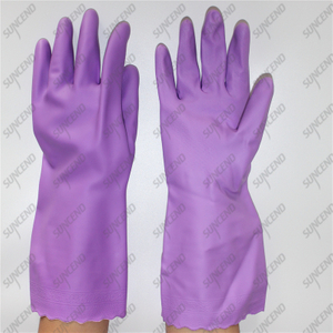 White spray special diamond texture PVC household gloves