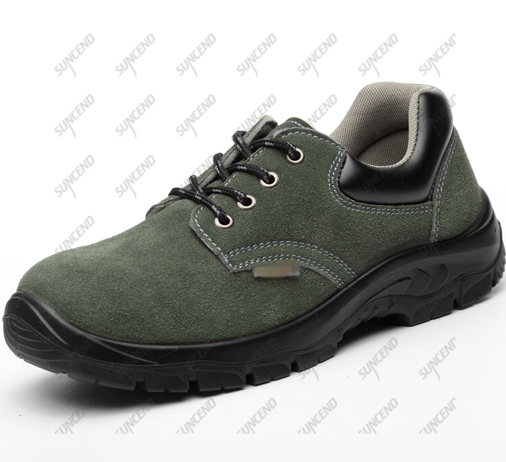Wholesale Swede Leather Steel Toe Anticollision Industrial Work Shoes