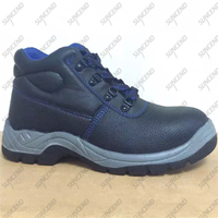 Ankle cut antistatic waterproof genuine leather steel toe safety shoes