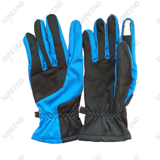 Women leather ski hand safety gloves waterproof windproof