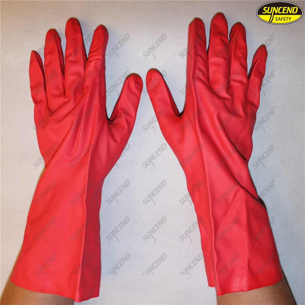Oil resistant mechanic nitrile industrial gloves