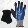 Double Layer Double Nitrile Dipped Winter Protection Cut Resistant Gloves