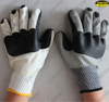 Protection working rubber palm coated hand gloves