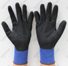 13/15/18 Gauge Blue Nylon Knit NBR Coating Work Glove with Sandy Finish