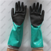 HPPE liner long cuff double coating black sandy nitrile gloves