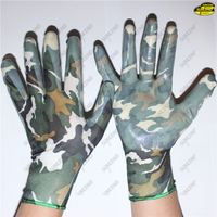 Gardening work use smooth nitrile coated women gloves