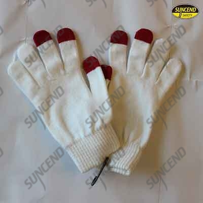 White pu gloves and anti-static gloves witb red Stamp