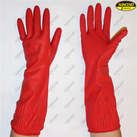 Cheap long waterproof rubber latex cleaning household gloves