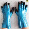 18G nylon liner nitrile sandy palm long cuff gloves