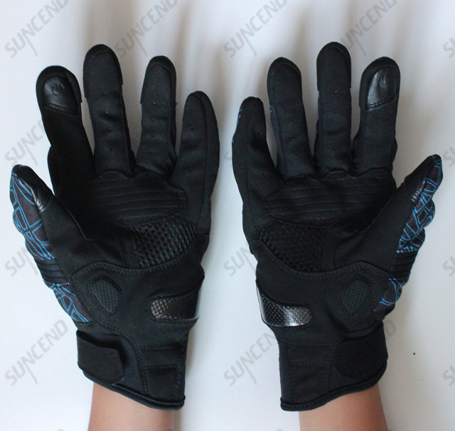 Quality PU Leather&Mesh Surface Kuncle Finger Protective Shell Motorcycle Glove
