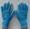 Blue Color Nylon Lining White PU Palm Coated Glove