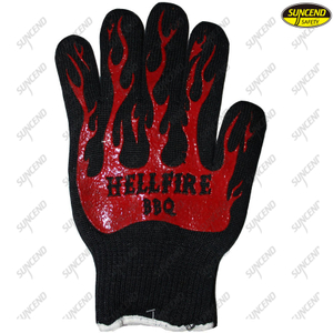 Cutproof Heat Resistant Safety Aramid Fiber Gloves